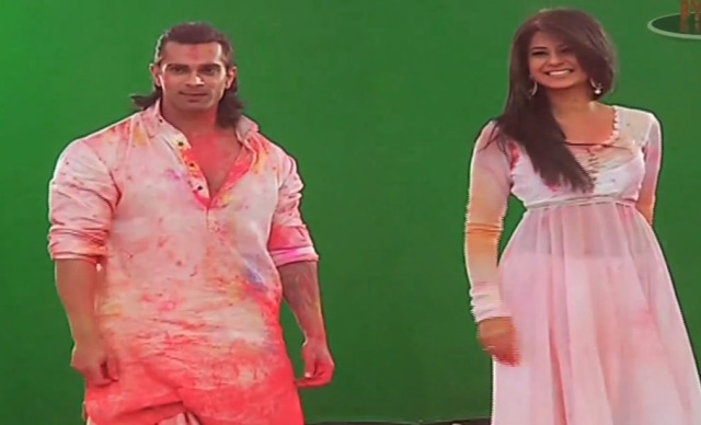 Karan-Singh-Grover-and-Jennifer-Winget-in-Star-Plus-Holi