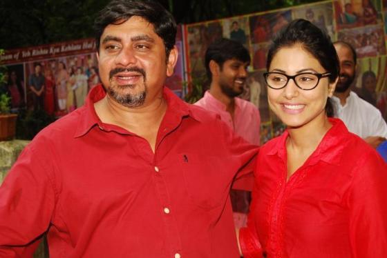 Rajan Shahi and Heena Khan